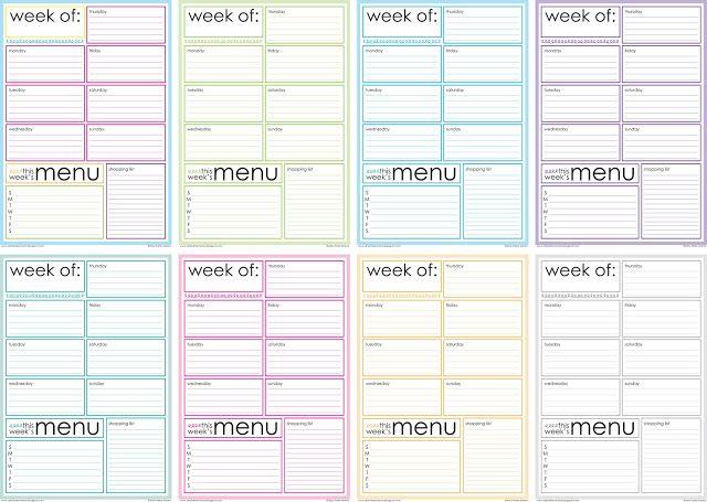 Free Printable Weekly Menu Planner Letu0027s get organized - free printable weekly planner