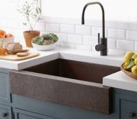 Apron-Front Sinks: Pros and Cons | Subway tile backsplash