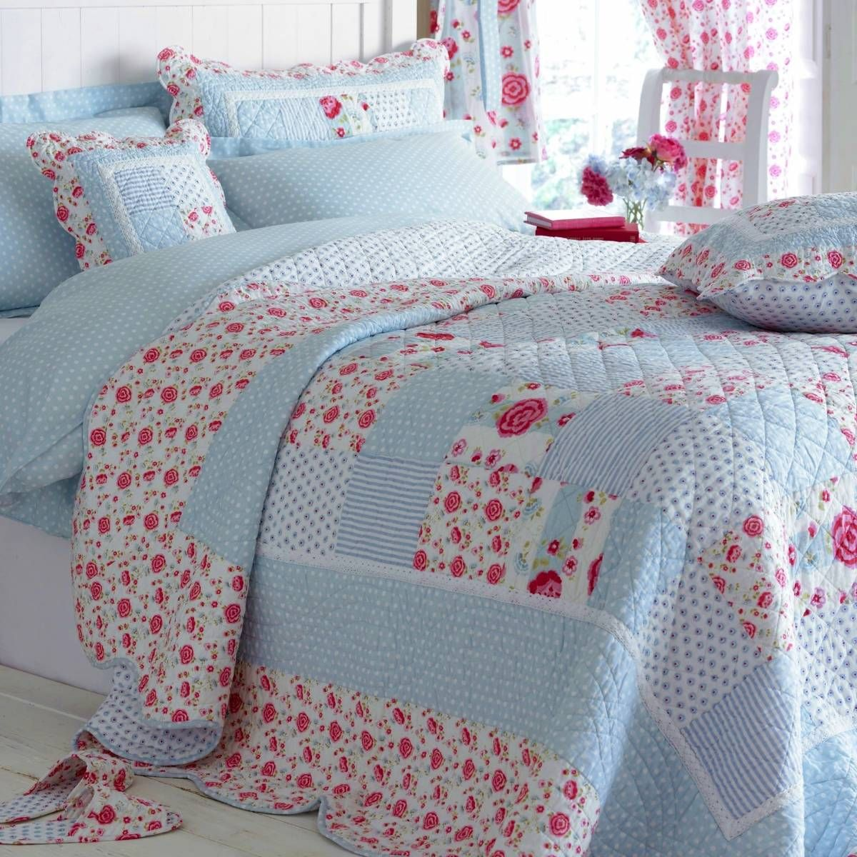 Patchwork Tagesdecke Quilts Home Childrens Girls Bedding Catherine