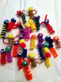 Easy Pipe Cleaner Crafts | The boys created angels, bumble ...