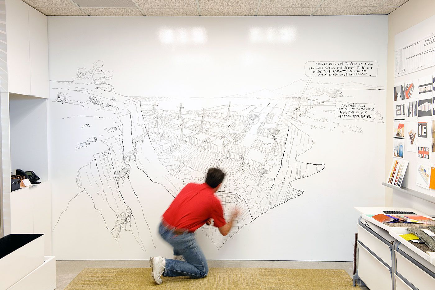 How To Turn A Wall Into A Whiteboard Ideapaint Whiteboard Paint Home Pinterest
