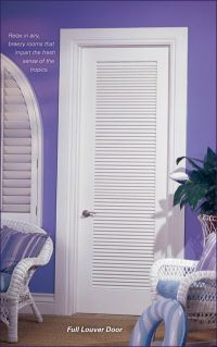 Vented Doors & Cool White Wooden Louvered Closet Doors