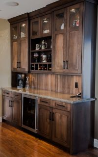 Custom maple wetbar bar/wall unit. great for entertaining ...