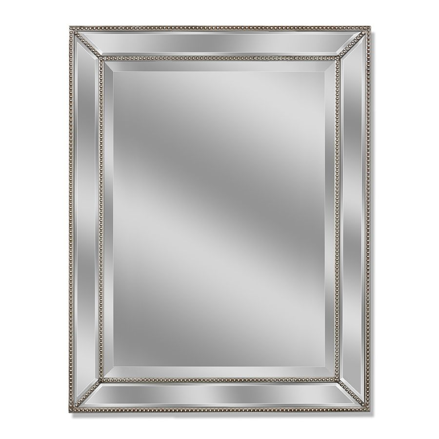 Allen roth 30 in x 40 in silver beveled rectangle framed french wall