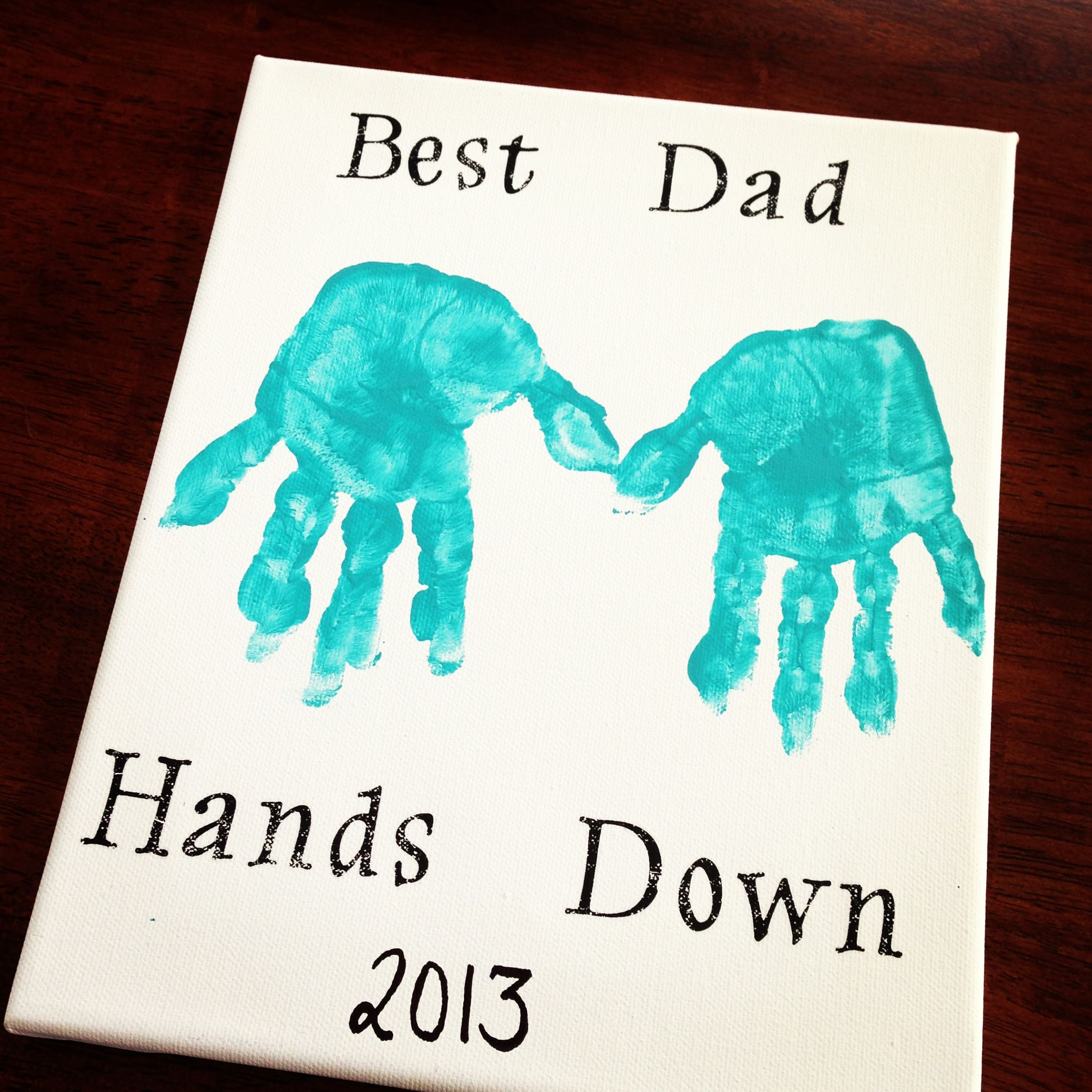Easy Diy Birthday Gifts For Dad Father 39s Day Diy Canvas Art 8 Quot X 10 Quot Canvas Acrylic Paint