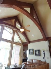 cathedral+ceiling+with+beams | The arch in these modified ...