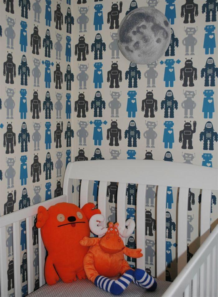 tapete kinderzimmer babybett lustige tapete tapetenmuster - 3d tapete kinderzimmer nice ideas