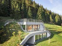 Wavy green-roofed Casa Jura disappears into Frances ...
