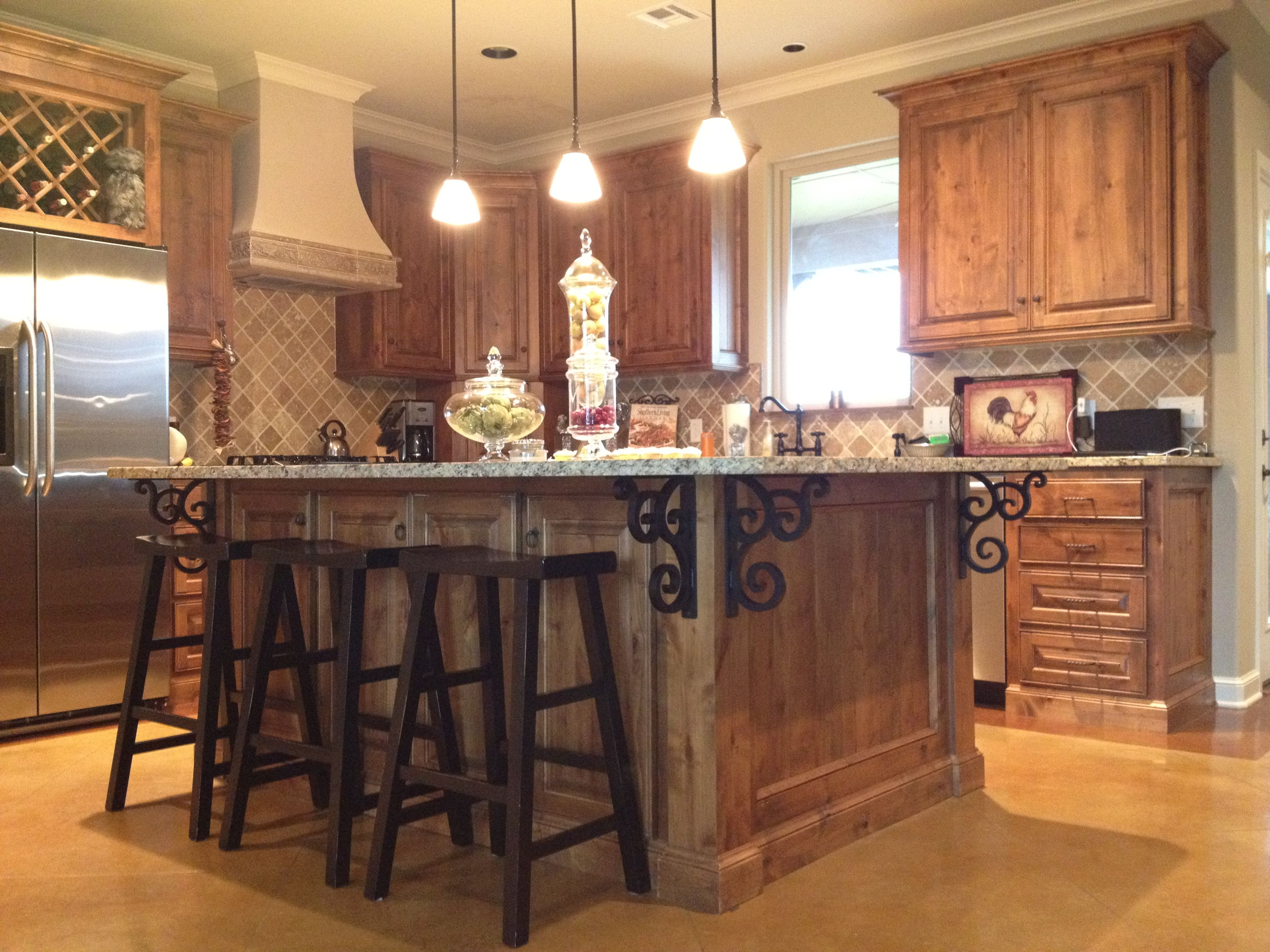 Granite Kitchen Islands Granite Kitchen Island Isabelle Corbels Mounted Under