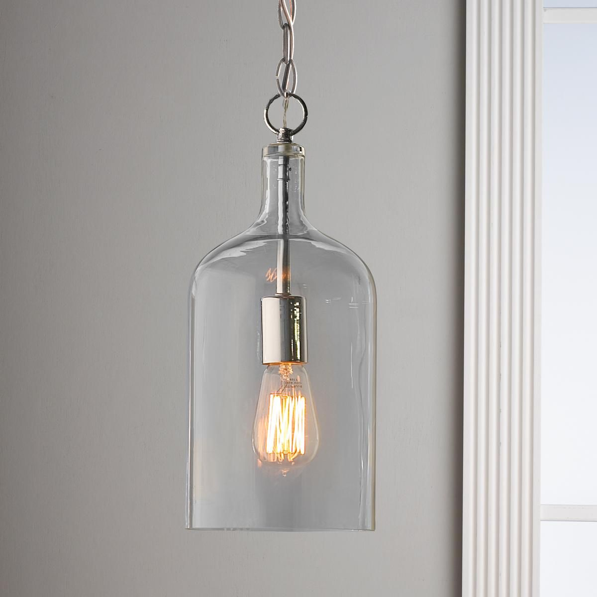 Kitchen Pendant Lighting Glass Glass Jug Pendant Light Discover Best Ideas About