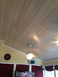 Pickled pine ceiling in our sunroom. | Stuff I Made ...
