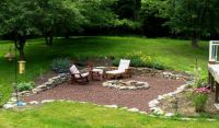 outside sitting area rocks | Fernrock Landscapes, Inc ...