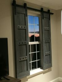 Rustic Wooden Shutters - Barn Window Treatments - www ...