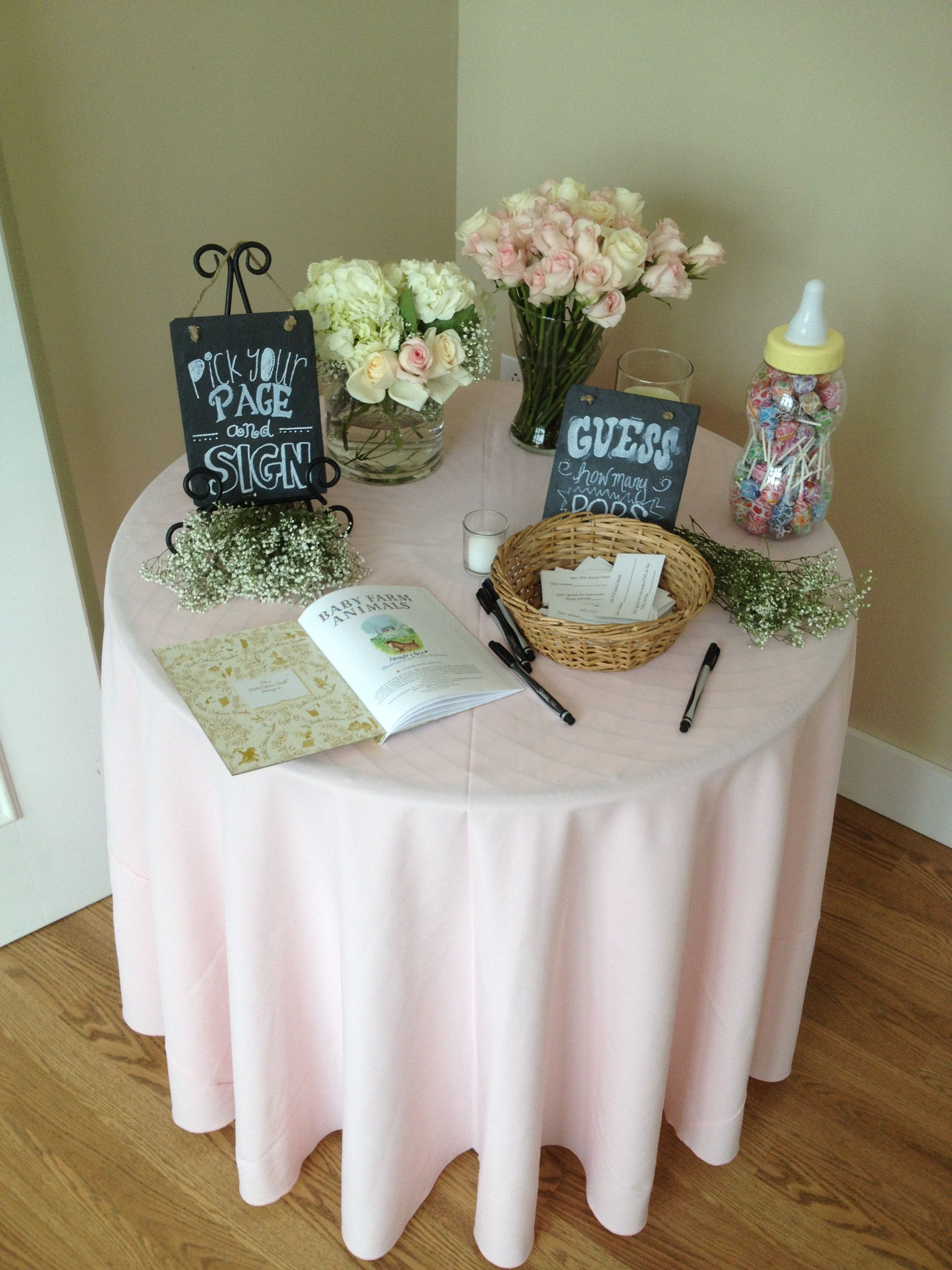 Entrance Table Entrance Table At A Baby Shower Our Events Pinterest