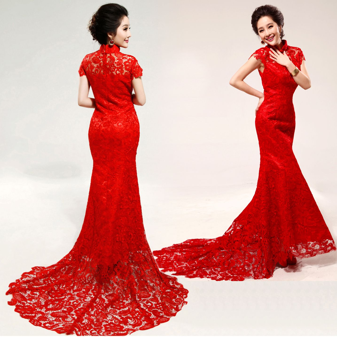 red lace wedding dress chinese wedding dress for women is usually a one piece dress