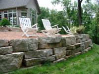 outcropping stone wall - Stuber Land Design | Outside ...