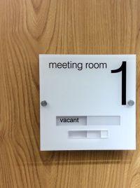 Modern Acrylic Sliding Door Signs http://www.de-signage ...