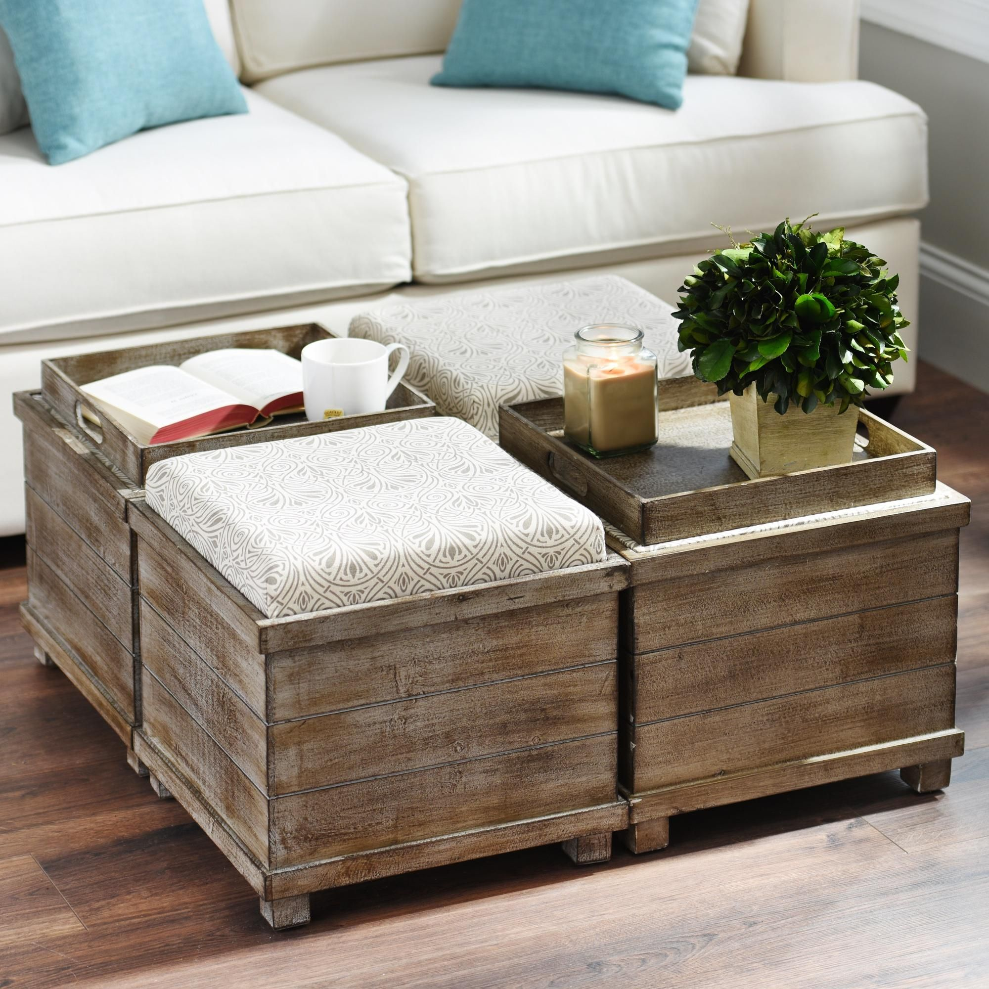 Best 25+ DIY storage ottoman coffee table ideas on
