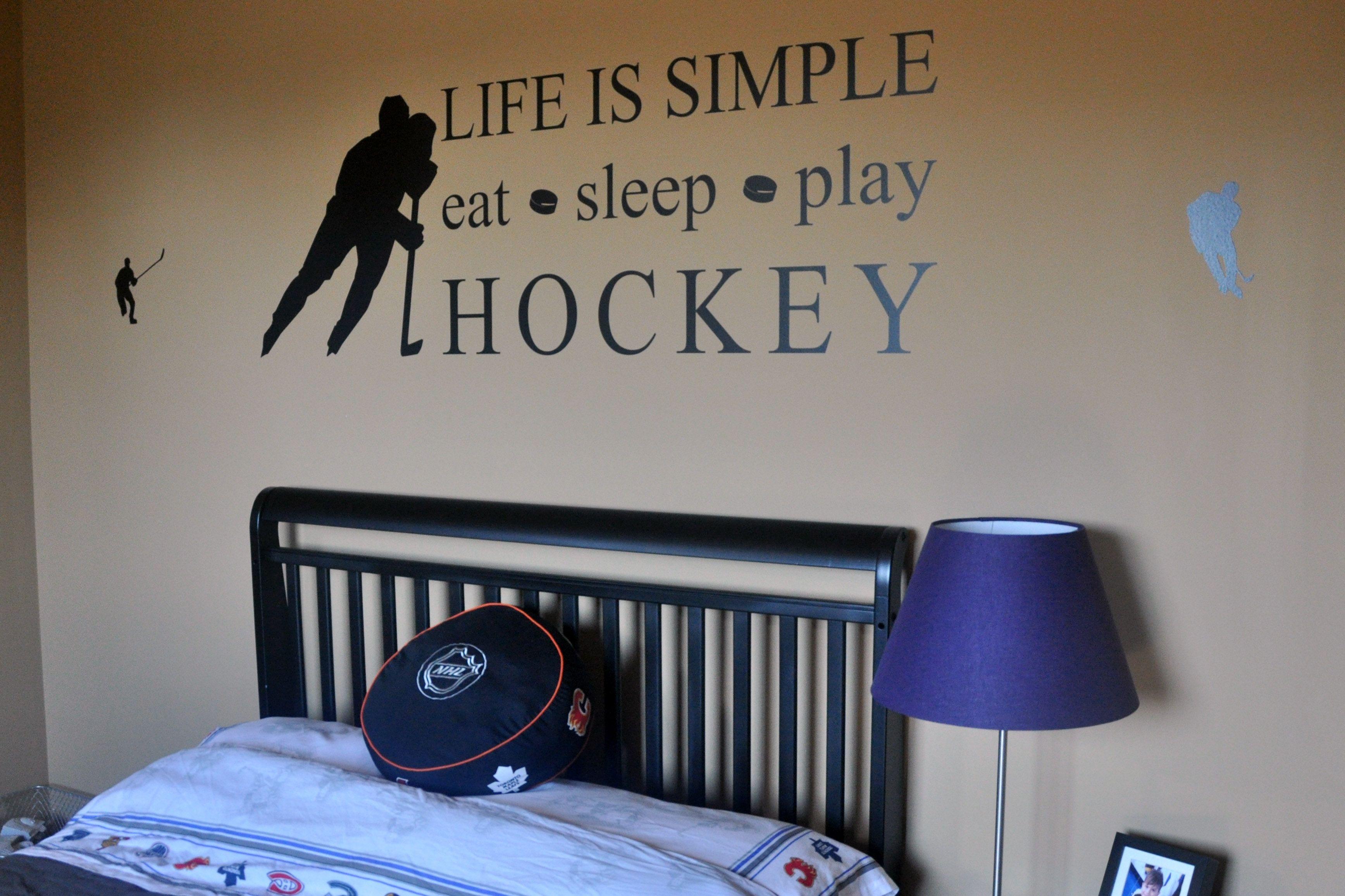 Boys hockey bedroom ideas -  Hockey Room Ideas On Pinterest Download