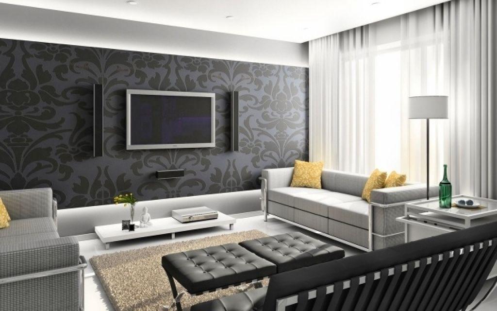 wohnzimmer modern tapete wandgestaltung tapete wohnzimmer florale - muster wohnzimmer