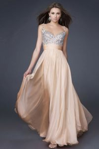 Gala attire Female- Beautiful peach floor length dress ...