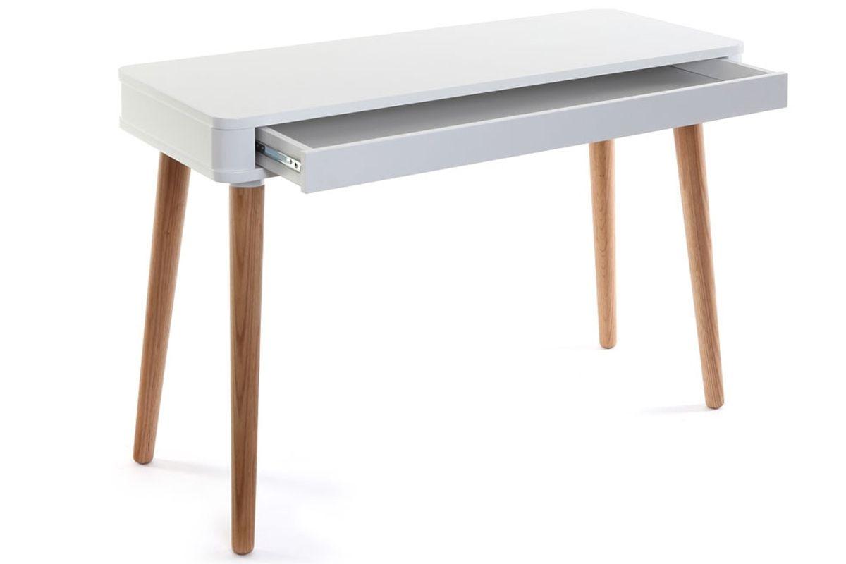 Bureau en bois design table bureau bois chaise ikea bureau