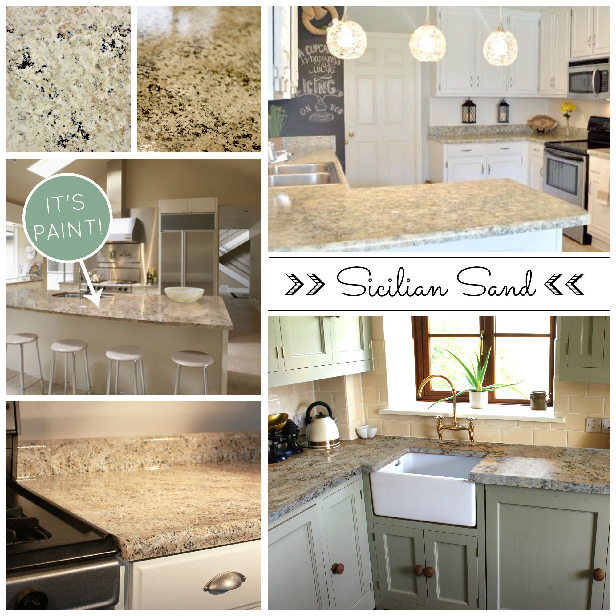 Painting A Kitchen Countertop Beautiful And Affordable Painted Countertops Diy