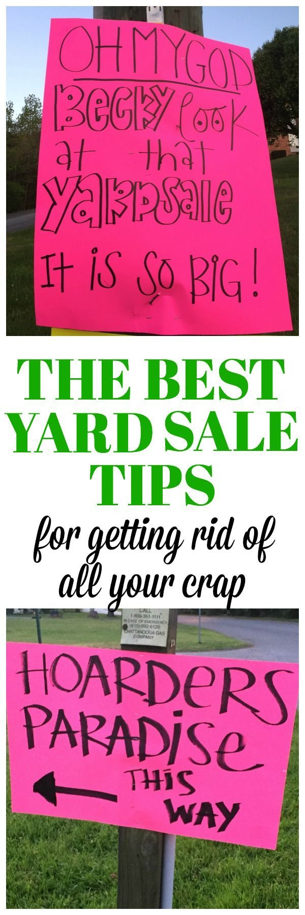 The best yard sale tips and garage sale tips for getting rid of all your crap