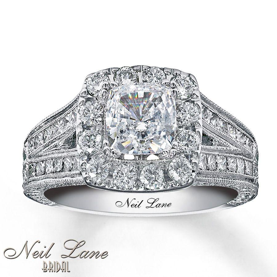 kays jewelry wedding rings neil lane engagement rings Kay Neil Lane Engagement Ring 2 ct tw Diamonds 14K