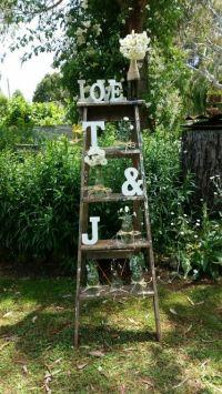 Rustic vintage garden engagement party decoration | Rustic ...