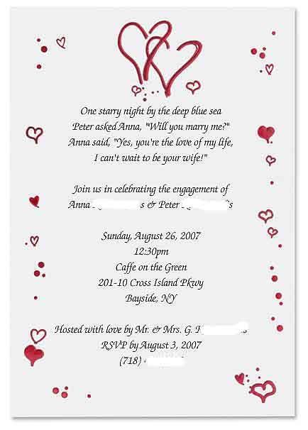 Fun Engagement Party Invitation Wording Engagement+invitations+ - how to word engagement party invitations
