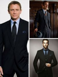 Black Suits with Light Blue Shirts. Black Ties | Men ...