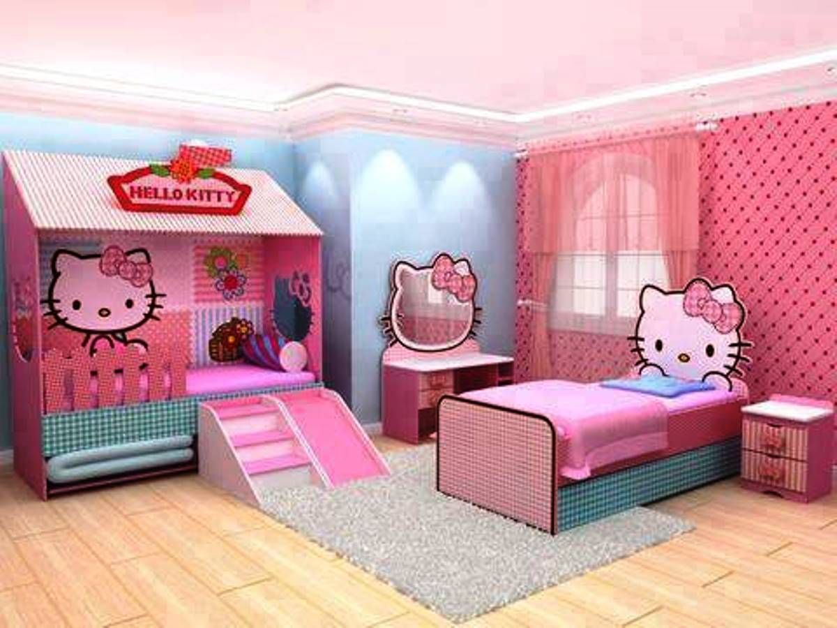 Hello kitty house hello kitty bedroom decorating ideas real house design