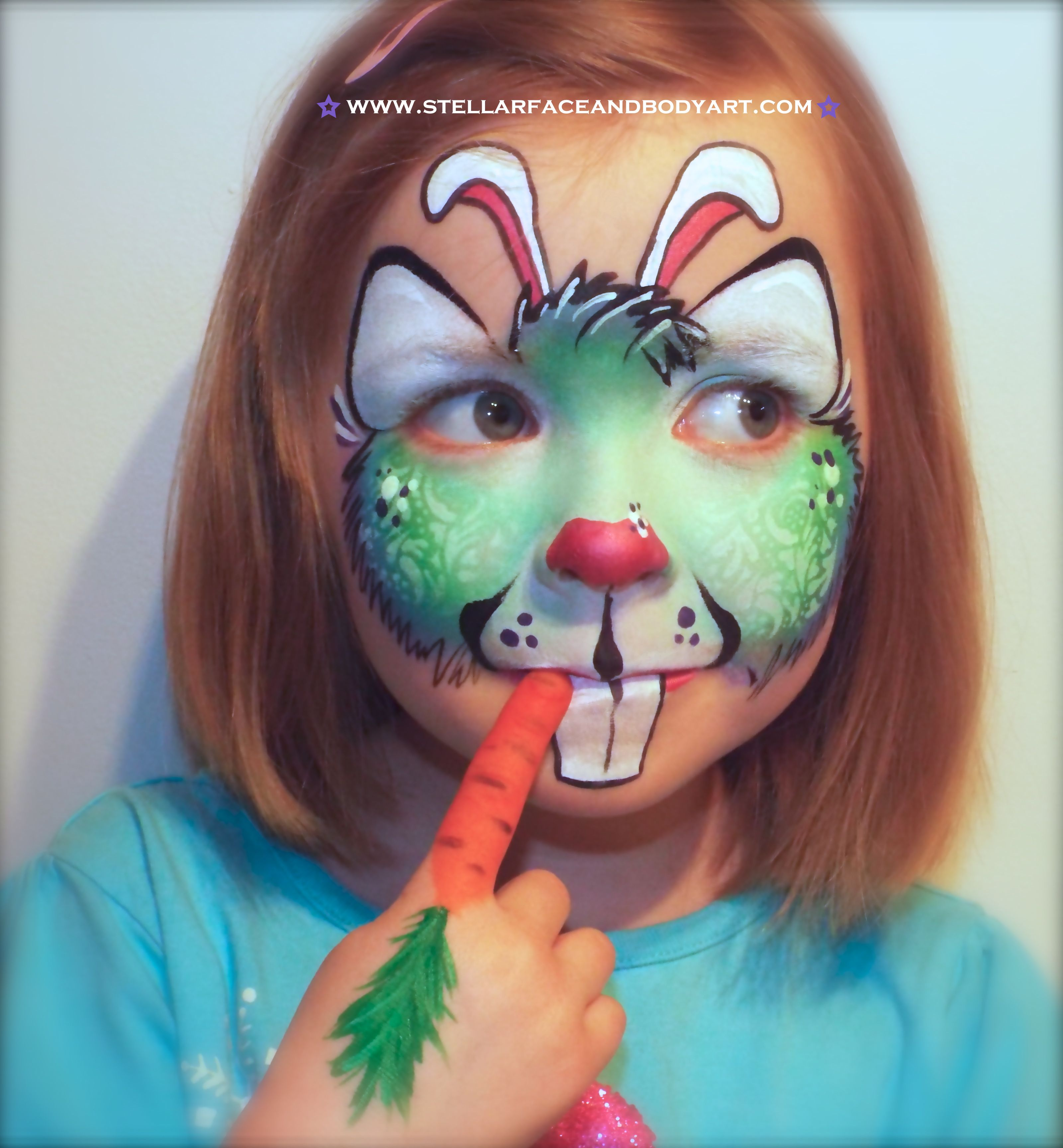 Schmink Ideen Easter Bunny Face Painting Hase Facepainting