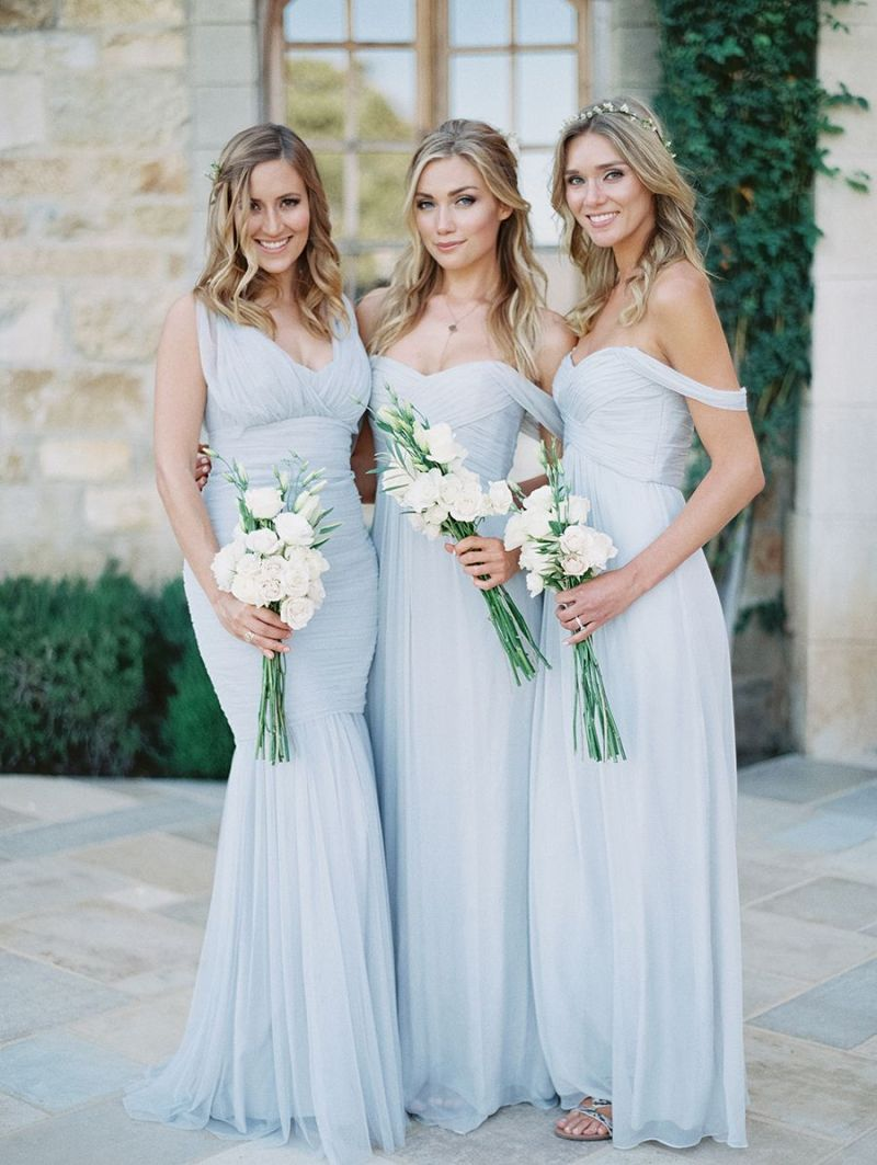 Large Of Dusty Blue Bridesmaid Dresses