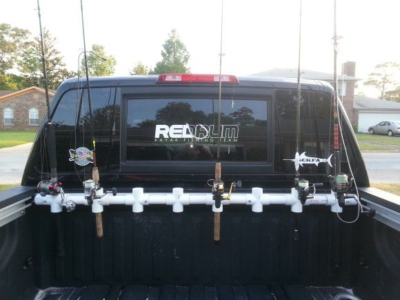 Diy Truck Bed Rod Holder Gone Fishin Pinterest Truck