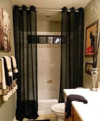 Bathroom Decorating Ideas With Shower Curtains ...