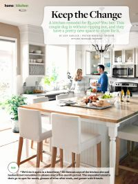 Oversize kitchen island table with seating BHG August ...