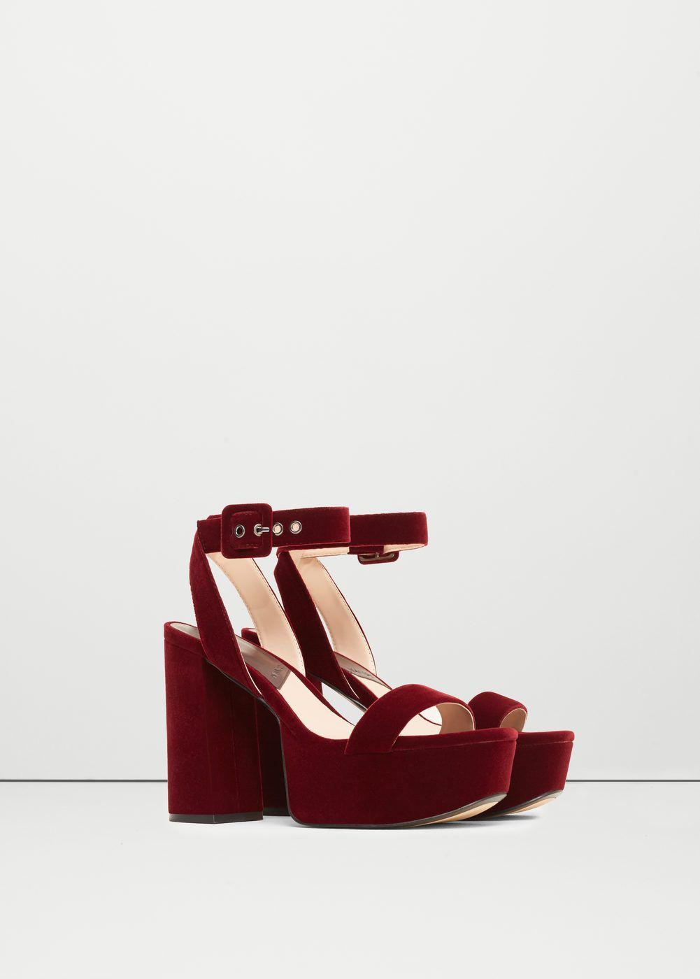 Platform velvet sandals shoes for women mango usa