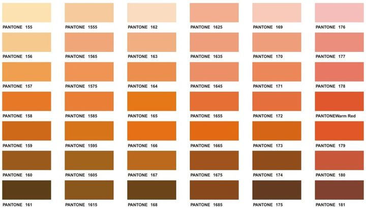Pantone Colour Chart ochre between earth and rose appropriate - sample pantone color chart