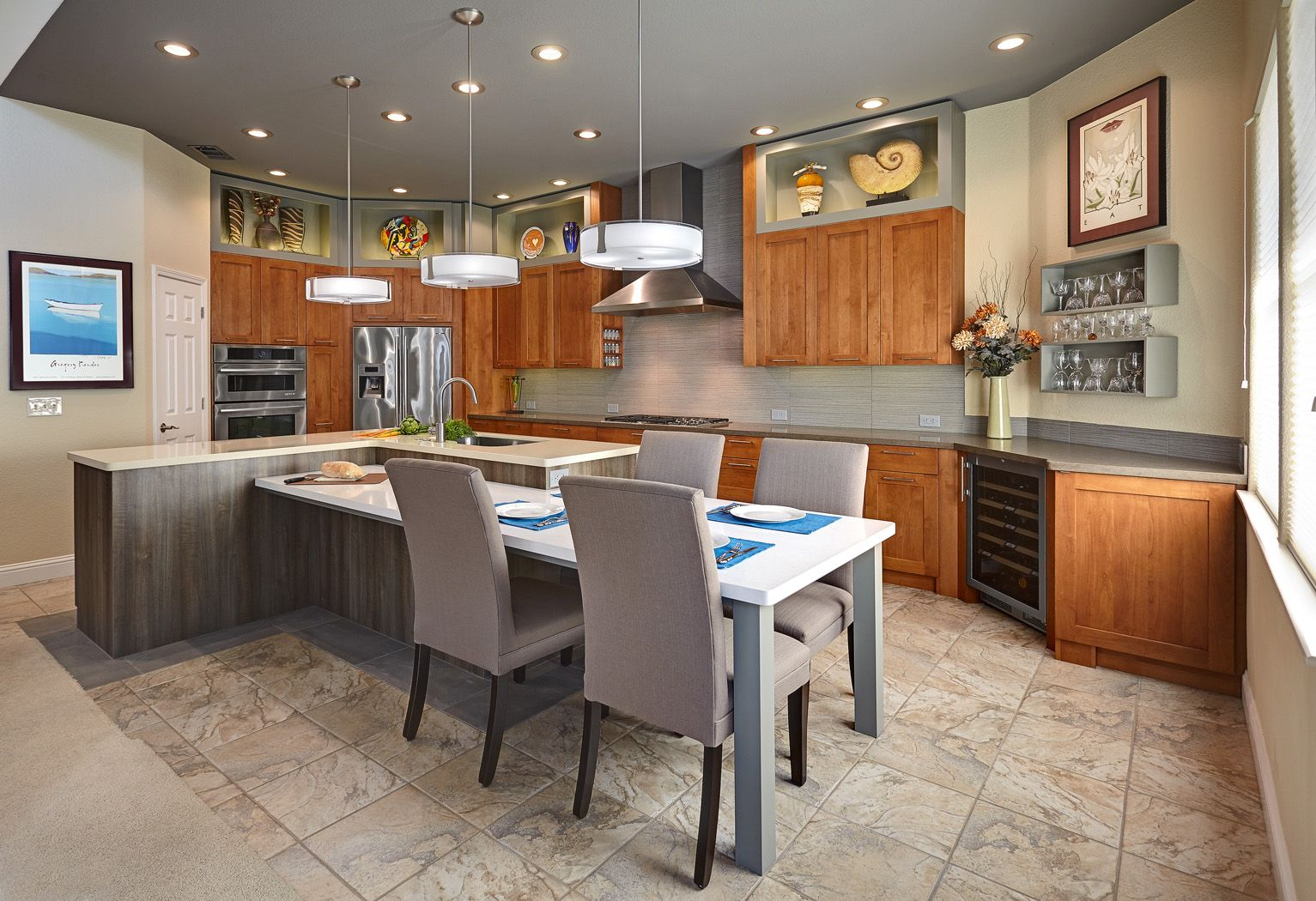 kitchen island with a table attached to it kitchen island tables 78 Images About Table Island Bined On Kitchen