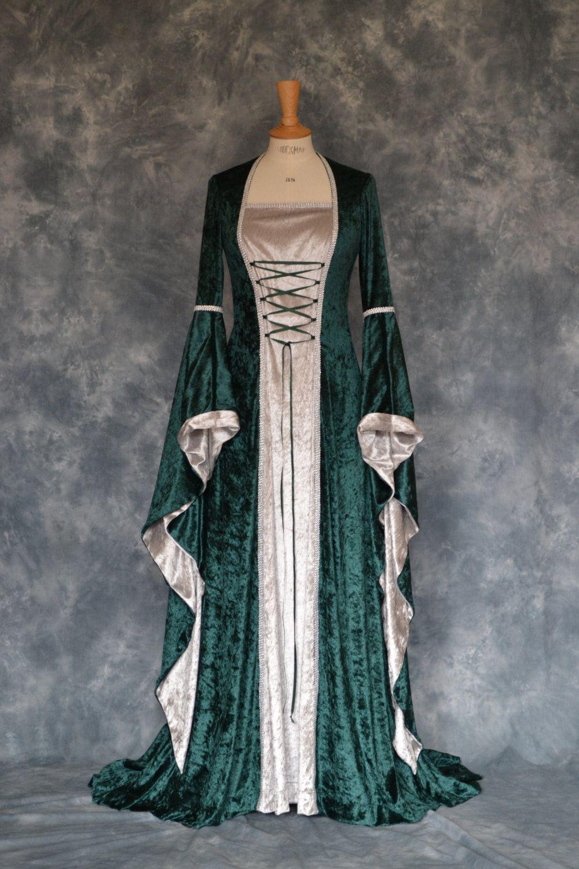pagan wedding dresses Rowena a Medieval Pagan Elvish Custom Made Hand Fasting Wedding Dress