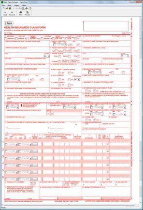 CMS 1500 Medical Claim Software CMS 1500 software Pinterest - medical claim form