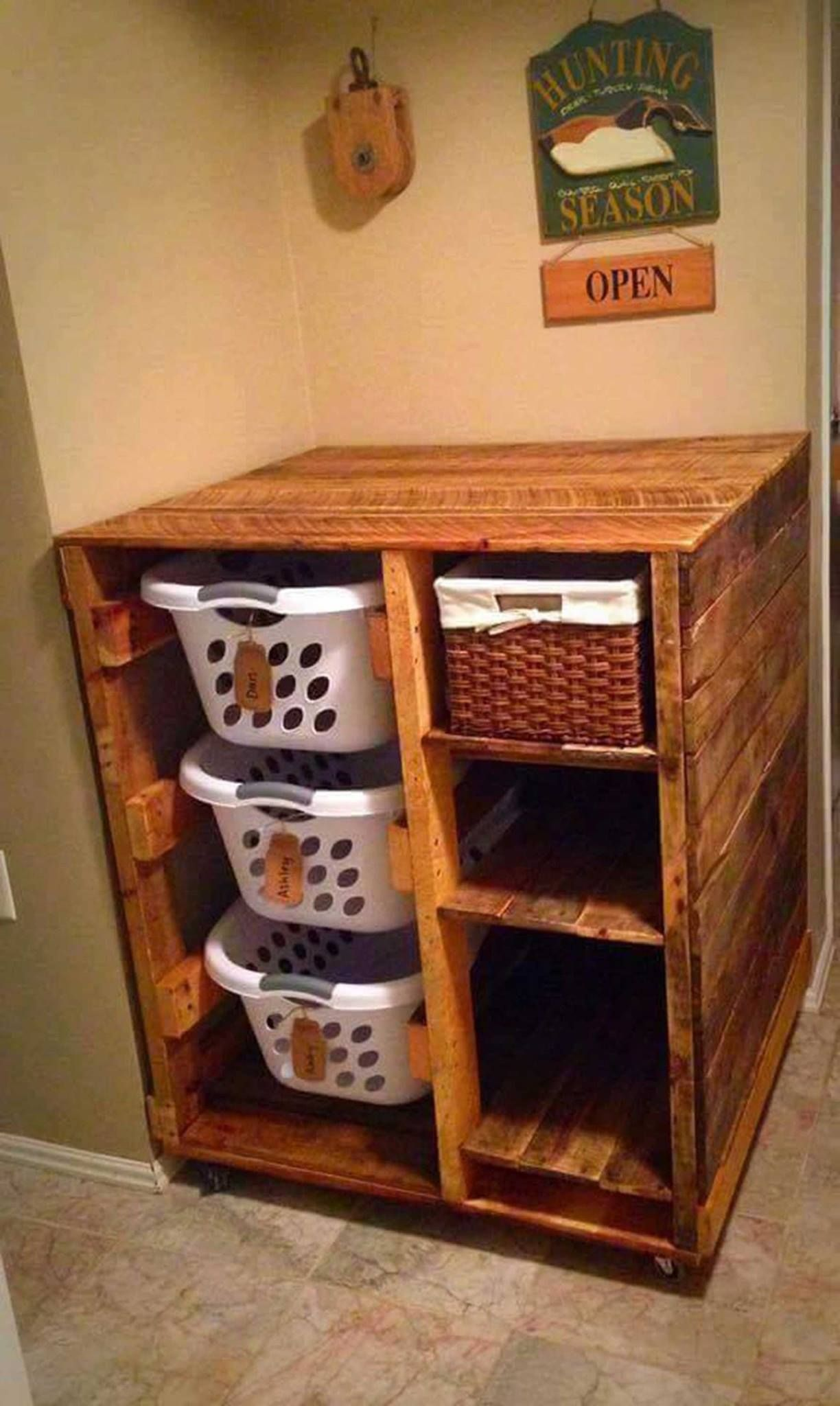 Laundry Basket With Shelves 20 43 Of The Best Diy Home Organizing Hacks And Tips