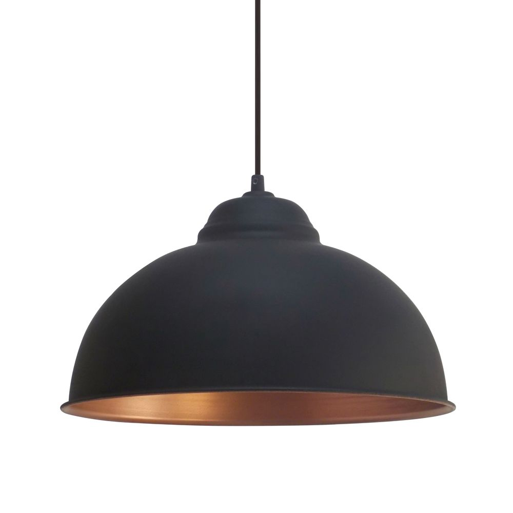 vintage kitchen lighting Eglo Vintage Black and Copper Pendant Breakfast Bar Lights Kitchen