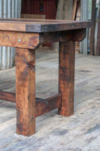 Rustic Industrial Vintage Style Timber Work Bench or Desk ...