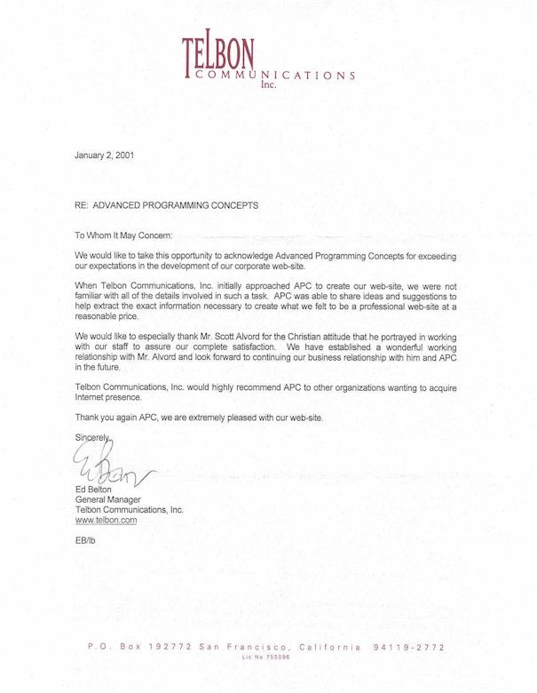 Business Recommendation Letter For A Company Letter Pinterest - company business letter
