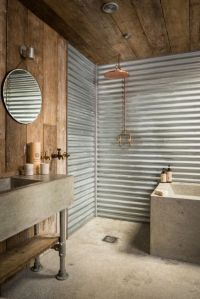 41 Concrete Bathroom Design Ideas To Inspire You | Rustic ...