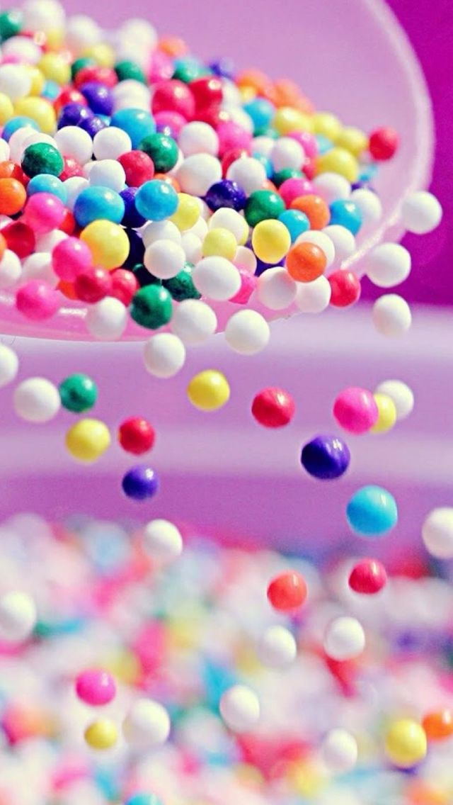 Falling Glitter Confetti Wallpapers Sweet Colorful Candy Ball Shaking From Bowl Iphone 5s