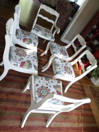 Duncan Phyfe style dining chairs painted in Annie Sloan ...